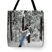 Awestruck By The Beauty Of Snow Tote Bag
