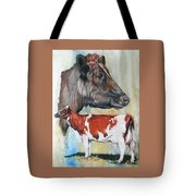 Ayrshire Cattle Tote Bag