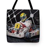 Ayrton Senna Karting Tote Bag