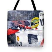 Ayrton Senna Mclaren 1991 Hungarian Gp Tote Bag