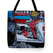 Ayrton Senna Monaco 93 Tote Bag