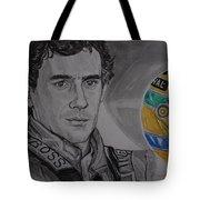 Ayrton Senna Portrait Tote Bag