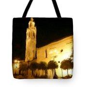Ayuntamiento Por La Noche Tote Bag