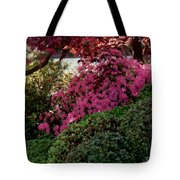 Azaleas And Red Maple Tree Tote Bag