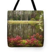 Azaleas And Reflection Pond Tote Bag