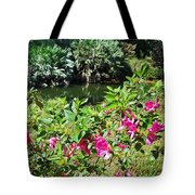 Azaleas By The Pond Tote Bag