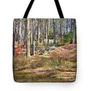Azaleas By The Pond's Edge Tote Bag