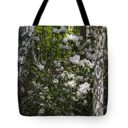 Azaleas In The Trees Tote Bag