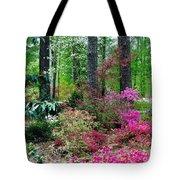 Azaleas Red Maple And Magnolia Trees Tote Bag