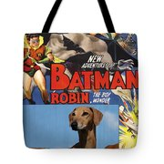 Azawakh Art - Batman Movie Poster Tote Bag