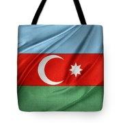 Azerbaijan Flag Tote Bag by Les Cunliffe