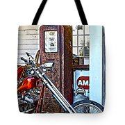 Aztec And The Gas Pump Tote Bag
