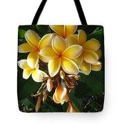 Aztec Gold Plumeria Tote Bag