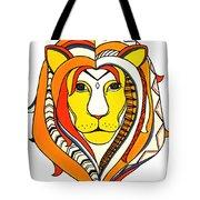 Golden Aztec Lion Tote Bag