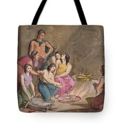 Aztec Women Making Maize Bread, Mexico Tote Bag