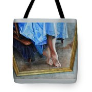 Through The Looking Glass- A Vision In Azure, Prelude To A Dance Tote Bag