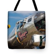B-17 Flying Fortress Tote Bag by Adam Romanowicz
