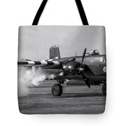 B-25 Mitchell Mk IIi Powers Up Tote Bag