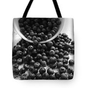 B And W Blueberries Tote Bag