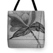 B W Wood Flower Tote Bag