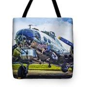 B17 Bomber Yankee Lady Tote Bag
