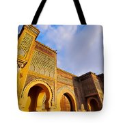 Bab Mansour In Meknes In Morocco Tote Bag