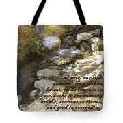 Babbling Brook William Shakespeare Quote Tote Bag
