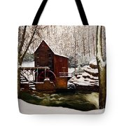 Babcock Mill In The Snow Tote Bag