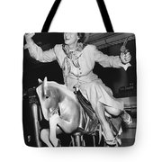 Babe Didrikson On Sidesaddle Tote Bag