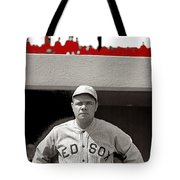 Babe Ruth As Member Of The Boston Red Sox National Photo Company Collection 1919-2013 Tote Bag