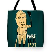 Babe Ruth New York Yankees Tote Bag