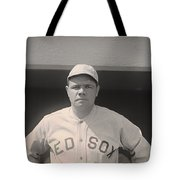 Babe Ruth With The Sox Tote Bag