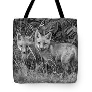 Babes In The Woods 2 - Paint Bw Tote Bag