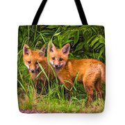 Babes In The Woods 2 - Paint Tote Bag