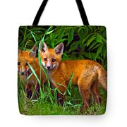 Babes In The Woods Impasto Tote Bag