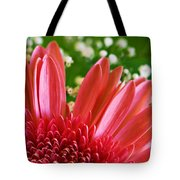 Babies Breath And Gerber Daisy Tote Bag