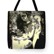 Baby Angel With Teddy Tote Bag