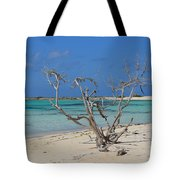Baby Beach With Driftwood Tote Bag