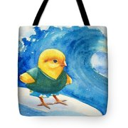 Baby Chick Surfing Tote Bag