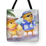 Baby Chicks In Honolulu Hawaii Tote Bag