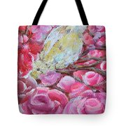 Baby Dove Of Peace Pink Flowers Tote Bag