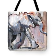Baby Elephant, 2012 Mixed Media On Paper Tote Bag