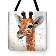 Baby Giraffe Watercolor  Tote Bag