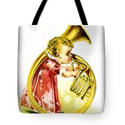 Baby Girl With A French Horn Tote Bag