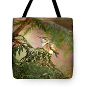 Baby Hummingbird In The Forest Tote Bag