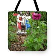 Baby Jesus In Garden Tote Bag
