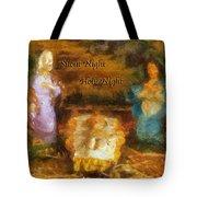 Baby Jesus Silent Night Photo Art Tote Bag