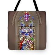Baby Jesus Stained Glass Window Tote Bag