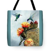 Baby Makes Three Tote Bag by Marilyn Smith