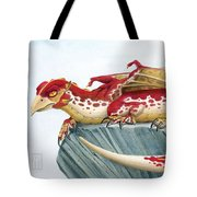 Baby Scarlet Spotted Dragon Tote Bag